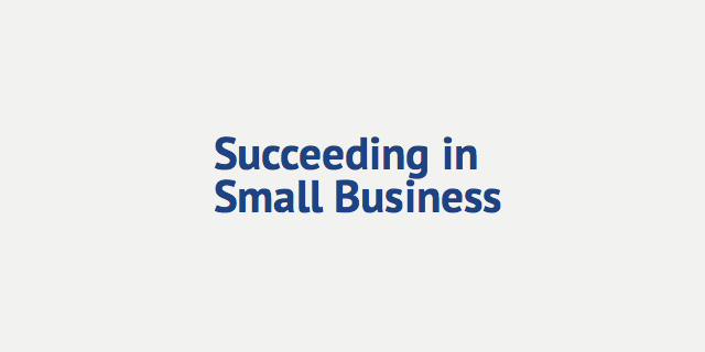 Succeeding in Small Business Logo